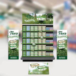 Flora 100% kasvipohjainen – Näkyvyyttä uutuustuotteille