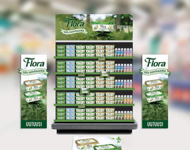 Flora 100% kasvipohjainen - Näkyvyyttä uutuustuotteille