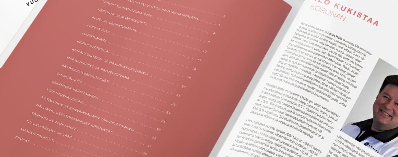 STLL vuosikertomus - Edeltävän vuoden tiedot siistissä paketissa